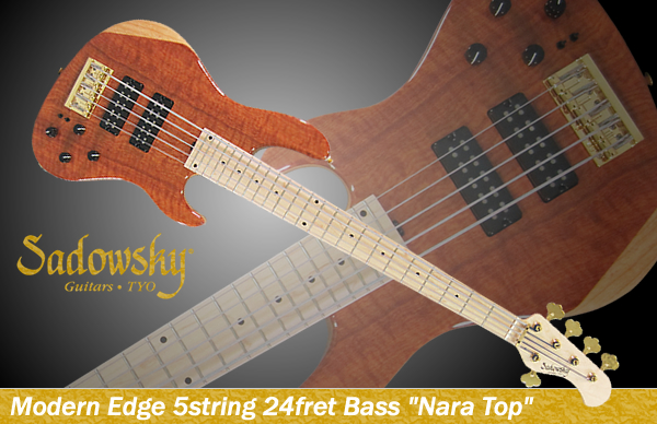 "Modern Edge 5string 24fret Bass ""Nara Top"""