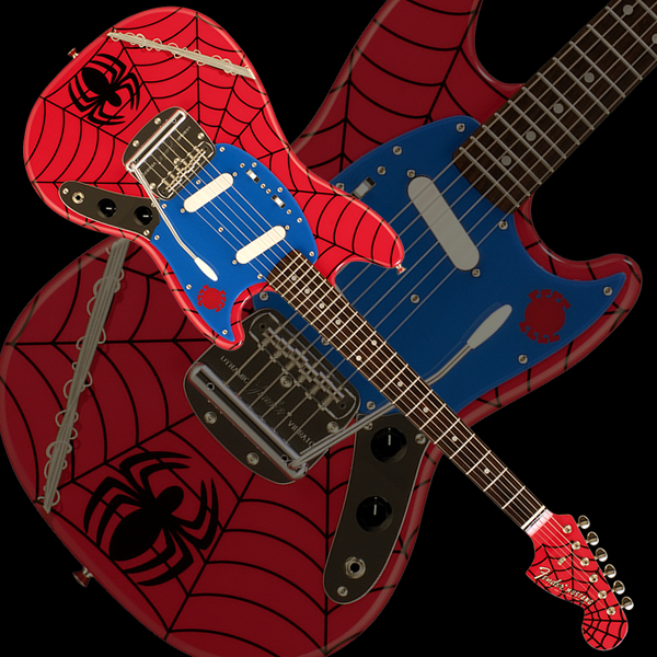 Fender Japan MG SPIDER-MAN