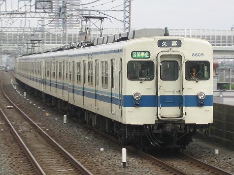 東武8000系未更新車。