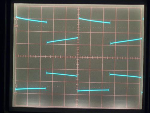 100Hz方形波の出力