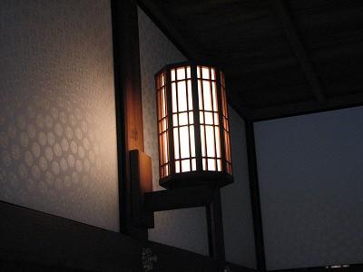 飫肥城の照明8285