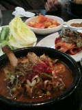 韓国式肉ナベ。