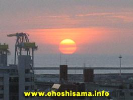 沖縄の夕陽