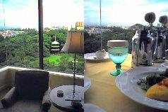 フォーシーズンズホテル椿山荘、お部屋から日本庭園をのぞむ