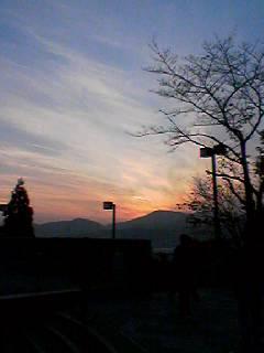 大学の夕日