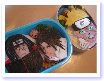 お弁当2個 ナルト・サスケ・イタチ