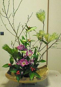 2009年お正月生花
