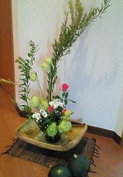 九月の生け花