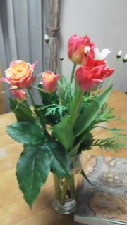 謝恩会の花