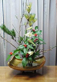 2009年お正月生花4