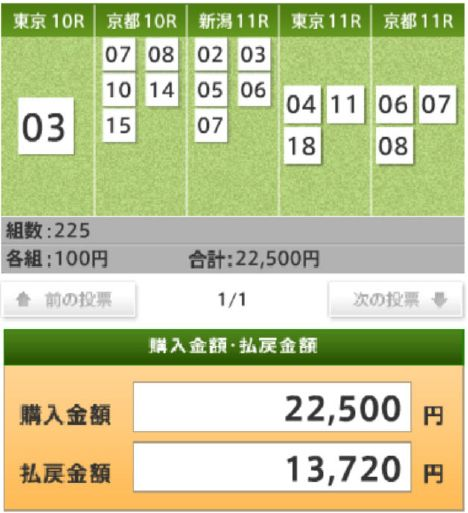 20111106 WIN5 (13720円)