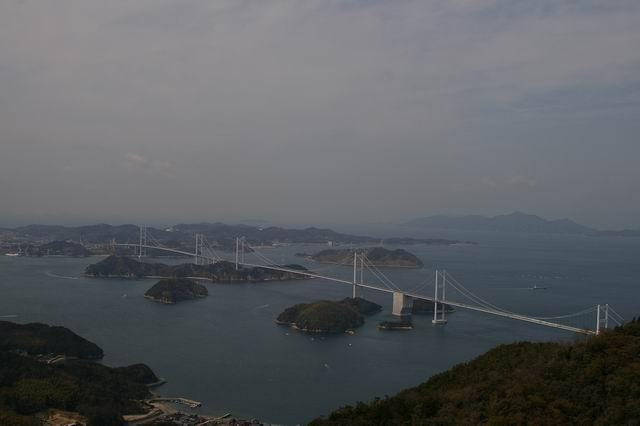 来島海峡大橋 亀老山展望台から