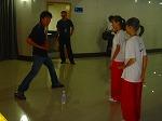 少林拳の練習
