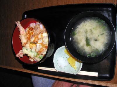 姫八菜の天丼