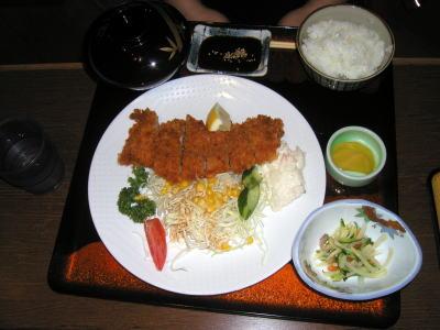 姫八菜の豚カツ定食