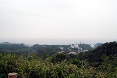 パールロード駐車スペースから見た太平洋