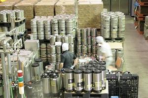エールビールの充填風景