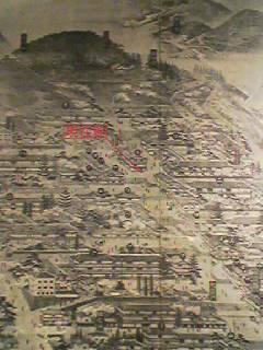 伊香保 石段 昔の風景イラスト