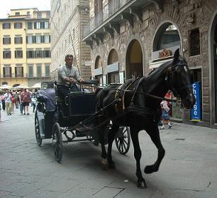 フィレンツェの馬車