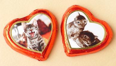 ハート猫チョコ