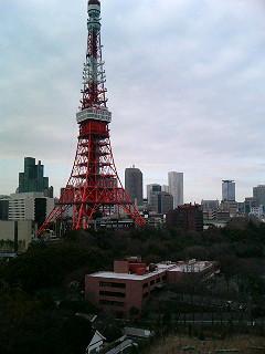 部屋から見た東京タワー