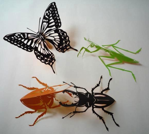 無料 モビール 型紙 無料 : 昆虫採集しましたよ~ | はるめ ...