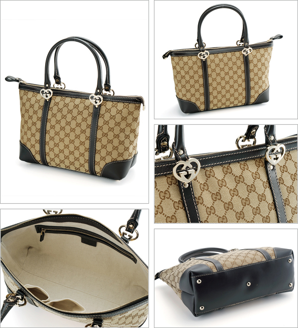 new products 732fe 95270 GUCCI グッチ 257069 FAFXG GGキャンバス LOVELY トートバッグ ...