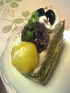 和栗のケーキ