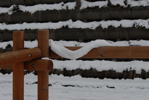 雪のマフラー