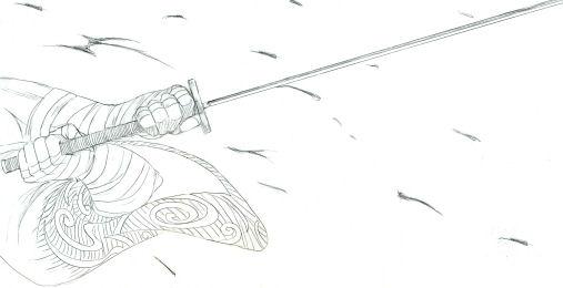 紅桜編の銀さん………の腕(笑)
