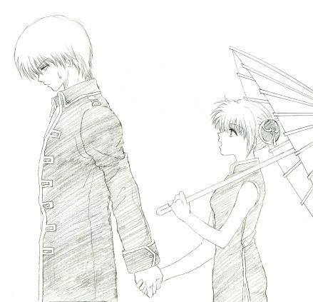 単に手を繋いだ絵を描きたかっただけなんですが、途中で挫けました。傘がグダグダです。っていうか、何もかもグダグダです。デッサンって何?バランスって何?( ̄□ ̄;)!!←落ち着け