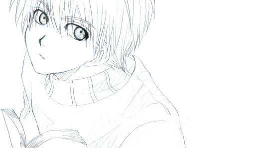 なんだか、最近、黒子絵は目付きの悪い絵ばっか描いてる気がします