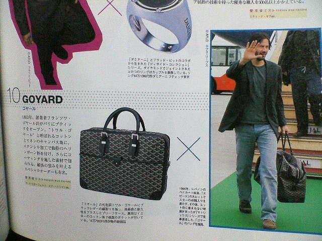 brand new b0c22 d5085 □キアヌ・リーブス愛用!GOYARD(ゴヤール)MEN'S ...