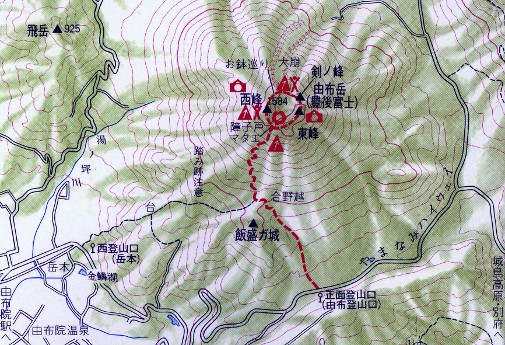 由布岳登山ルート