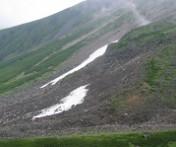 夏スキーが楽しめる大雪渓
