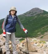 富士見岳の麓で一休み