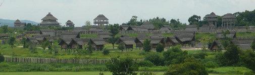 吉野ヶ里遺跡の全景