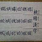 多賀神社の桃用漢字手ぬぐい