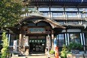 竹瓦温泉の玄関