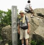 山頂で記念写真(女体山)