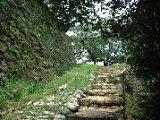 宇和島城への登り道