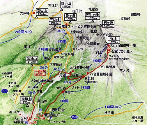 大山登山ルート