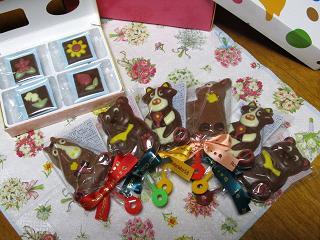 キュートなチョコたち。。