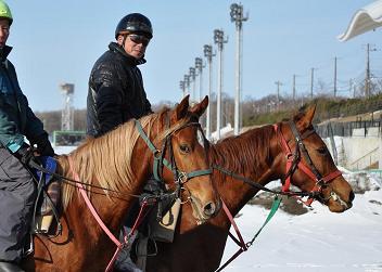 20120120 調教 宮崎騎手