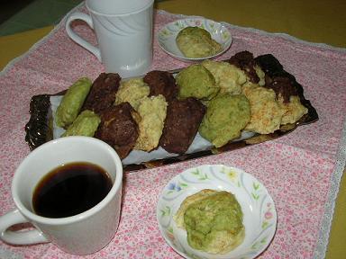 豆腐バナナ三色クッキー
