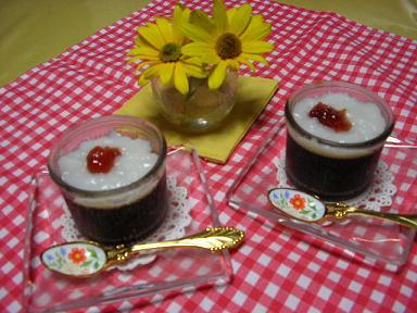 コーヒー&豆乳ゼリー