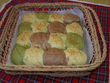 ノンオイルクッキーちぎりパン