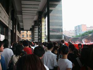 ヴァネス北京サイン会並ぶファン
