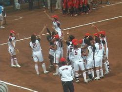 北京五輪女子ソフト決勝11