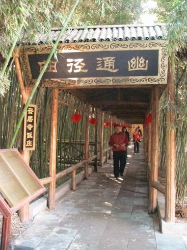 雲居寺内の小道